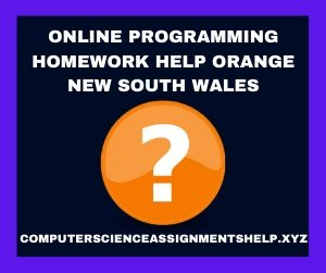 Online Programming Homework Help Orange New South Wales